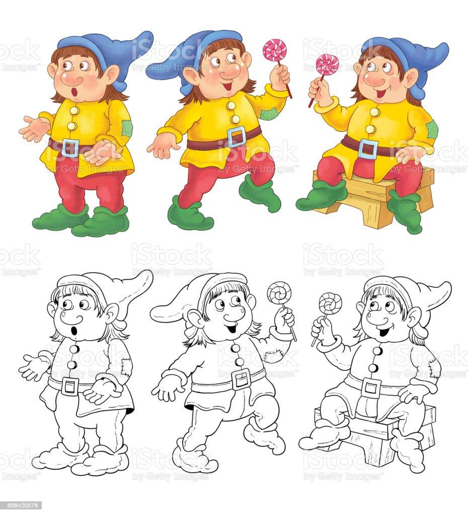 Pamuk Prenses Ve Yedi Cüceler Peri Masalı Boyama Sayfası