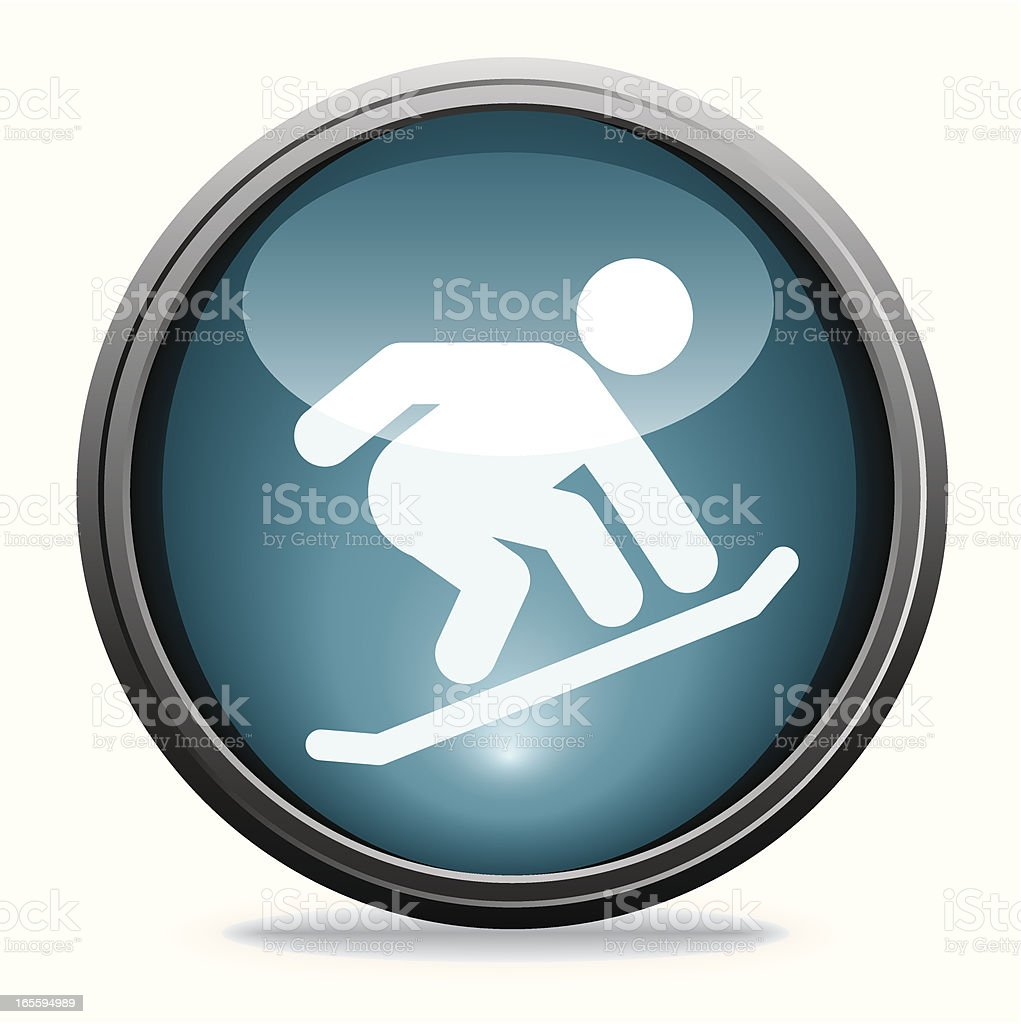 Snowboarding | Glass Collection royalty-free stock vector art