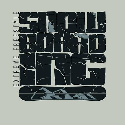 Snowboarding winter sport t-shirt