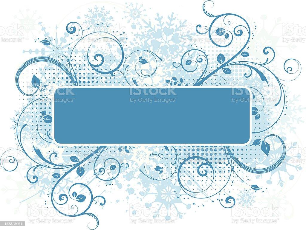 Snowflake grunge royalty-free stock vector art