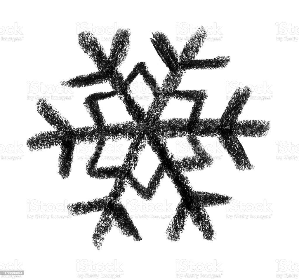 snowflake icon vector art illustration