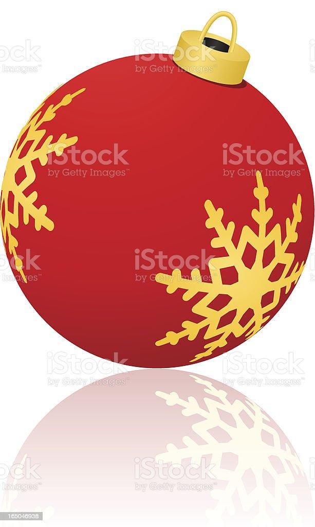 Snowflake Ornament - Red ( vector & jpg ) royalty-free stock vector art