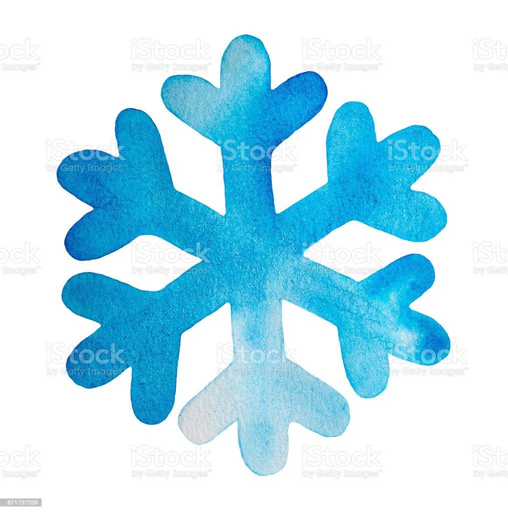 Ilustraci n de ilustraci n acuarela de copo de nieve color for Estrella de nieve