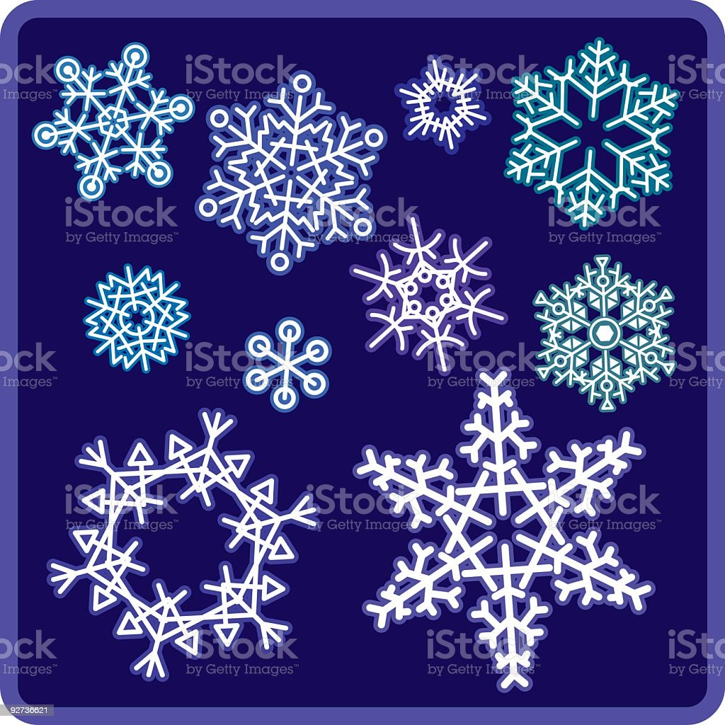 Snowflakes - Royalty-free Cold Temperature stock vector