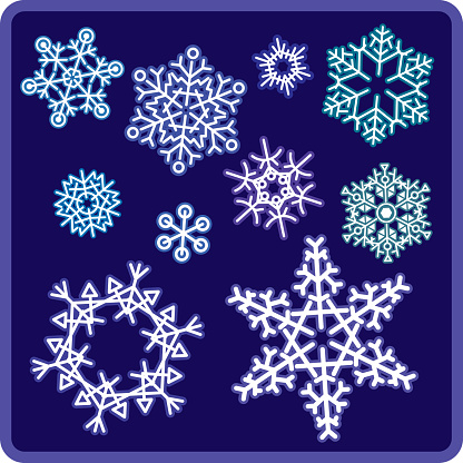 Snowflakes Stock Illustration - Download Image Now