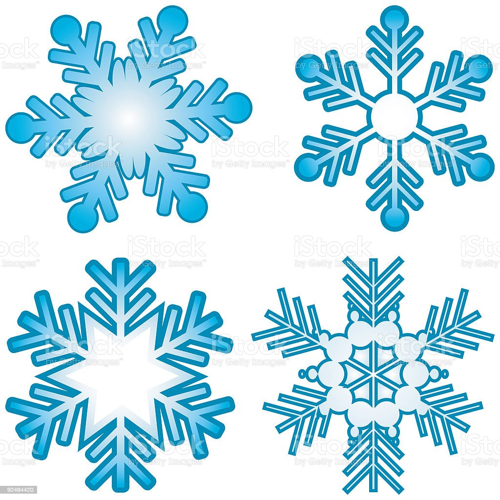 Snowflakes - vector royalty-free snowflakes vector stock vector art & more images of abstract
