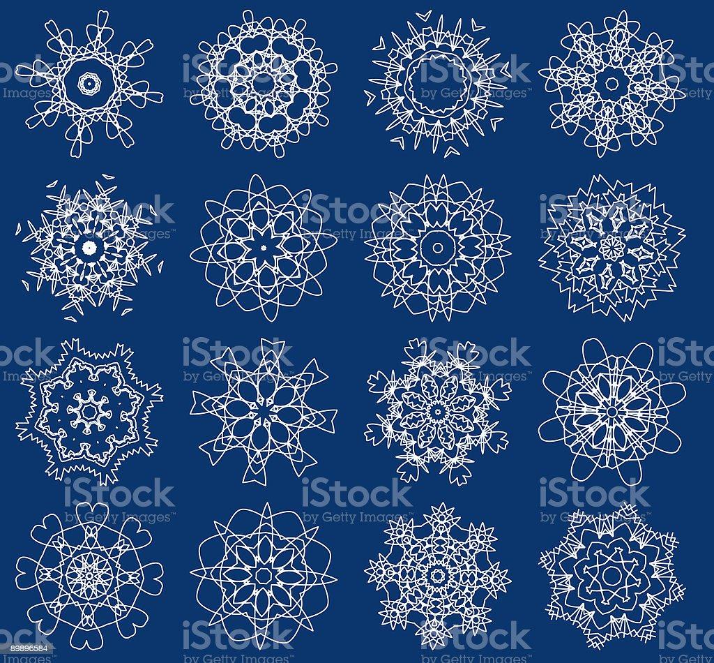 Schneeflocken, Vektor-illustration Lizenzfreies schneeflocken vektorillustration stock vektor art und mehr bilder von abstrakt