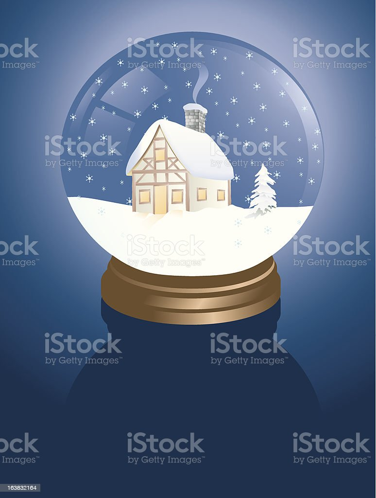snowglobe cabin royalty-free snowglobe cabin stock vector art & more images of celebration event
