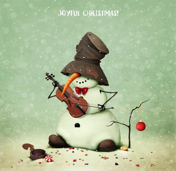 Christmas Violin.Best Christmas Violin Illustrations Royalty Free Vector
