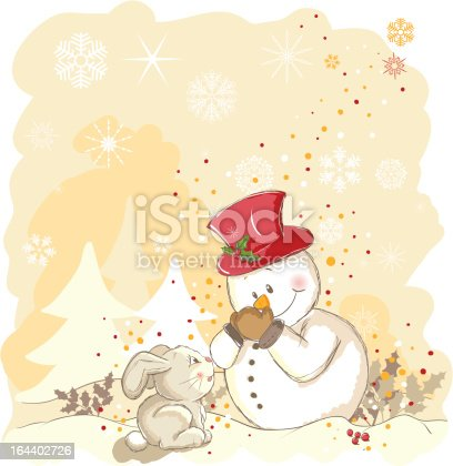 istock Snowman protecting his nose 164402726