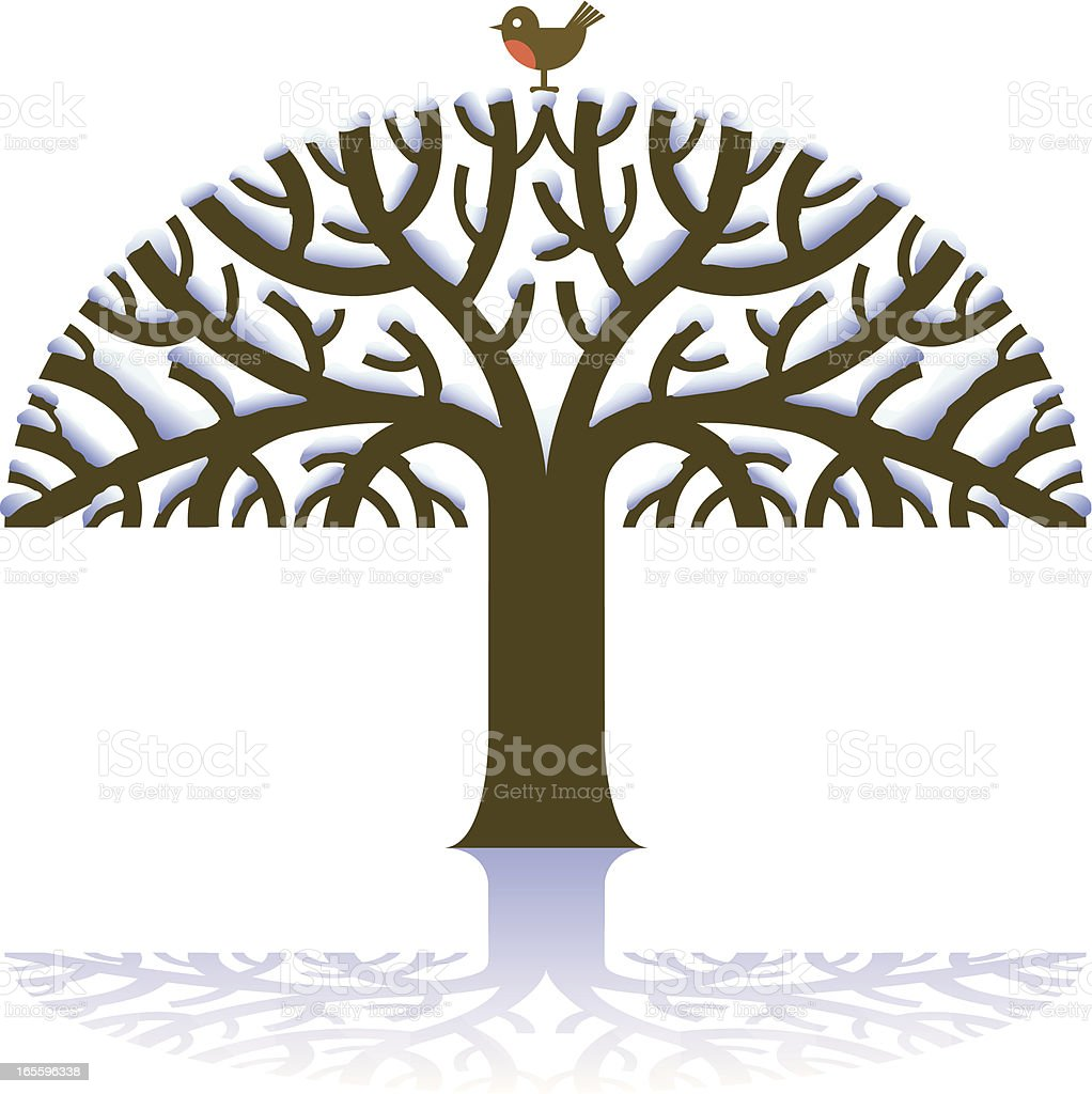 Snowy tree royalty-free snowy tree stock vector art & more images of animal