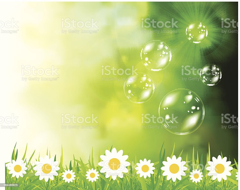 Soap bubbles on green natural background royalty-free soap bubbles on green natural background stock vector art & more images of agriculture