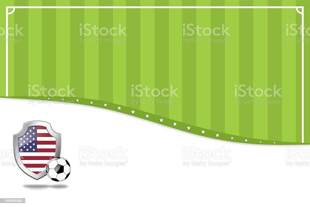 アメリカのサッカーの背景。 ベクターアートイラスト