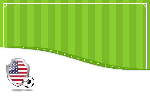 アメリカのサッカーの背景。 - グランドオープン点のイラスト素材/クリップアート素材/マンガ素材/アイコン素材