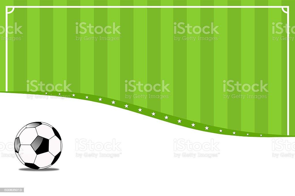 サッカーの背景。 ベクターアートイラスト