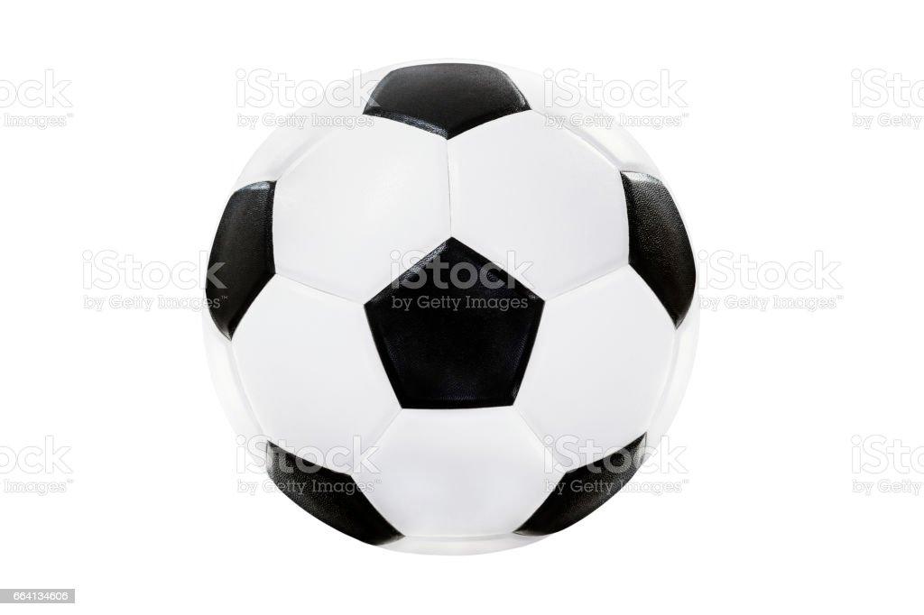 ballon de soccer isolé sur fond blanc avec un tracé de détourage - Illustration vectorielle