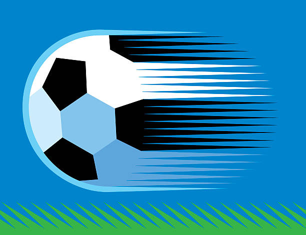 soccer ball on grass.eps vector art illustration