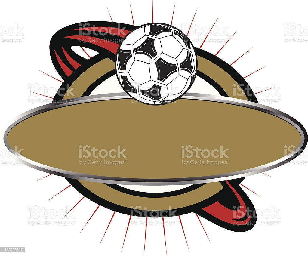 Soccer Banner Template royalty-free stock vector art