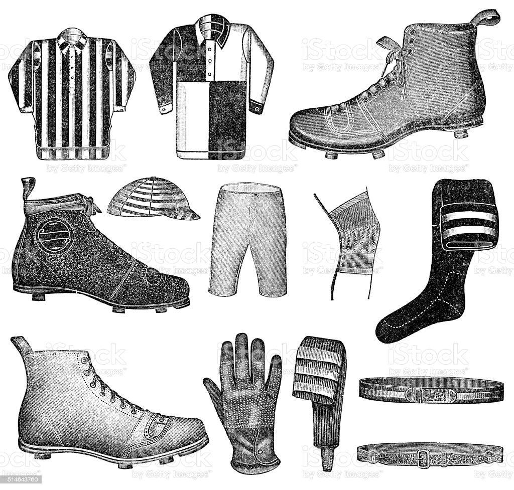 soccer equipment vector art illustration