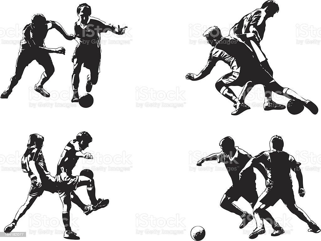 Soccer figures #4 vector art illustration