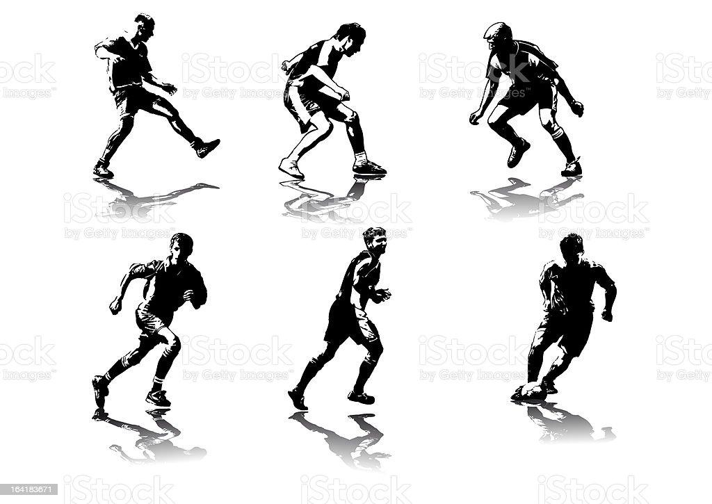 soccer figures #5 vector art illustration