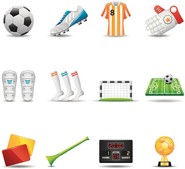 Fußball-Icon Set, Elegant Series – Vektorgrafik