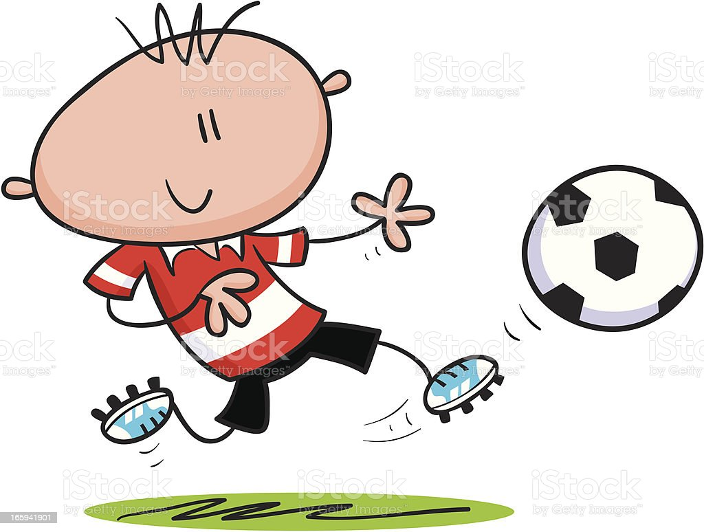 Soccer Man royalty-free stock vector art