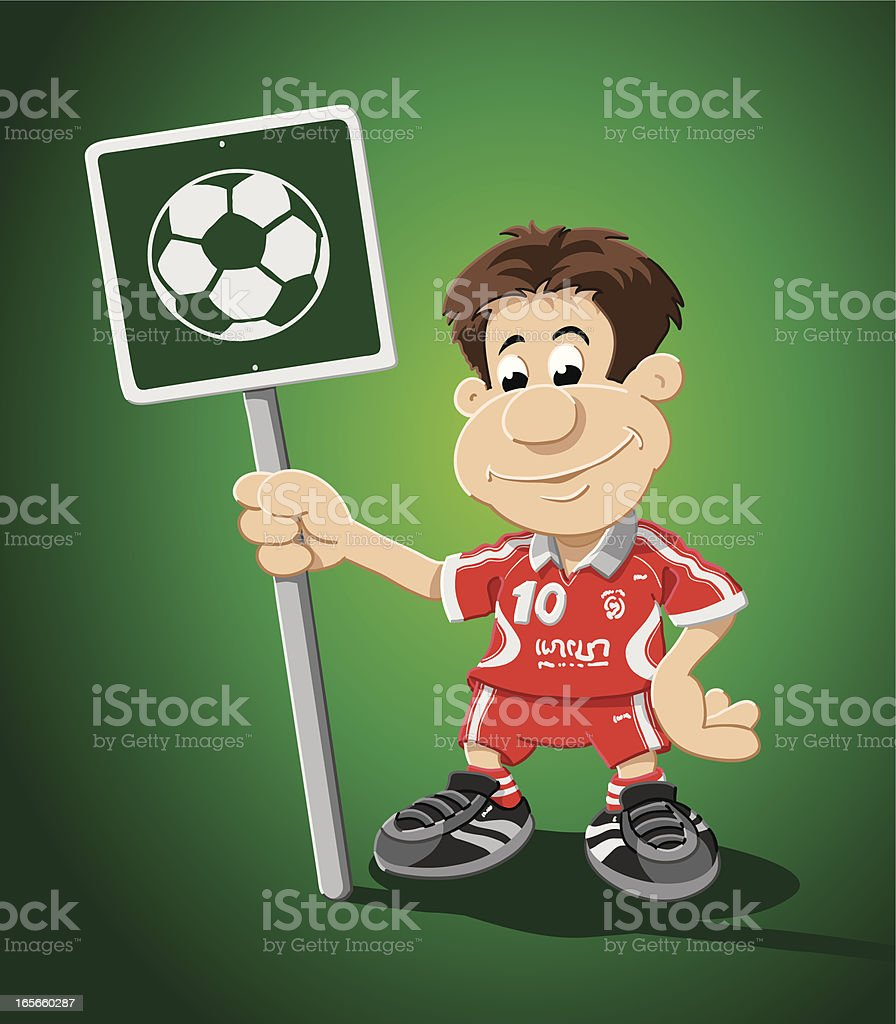 Soccer Player Cartoon Man Ball Sign royalty-free soccer player cartoon man ball sign stock vector art & more images of adult