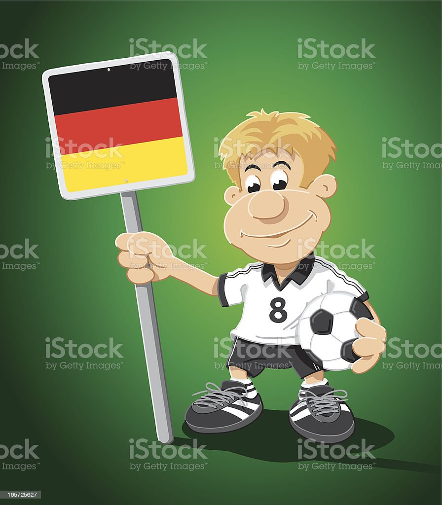 Soccer Player Germany Sign Cartoon Man royalty-free soccer player germany sign cartoon man stock vector art & more images of adult