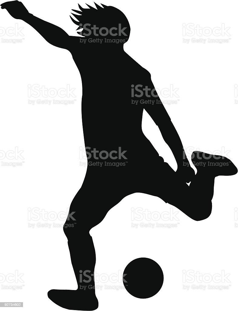 soccer player Lizenzfreies soccer player stock vektor art und mehr bilder von ball passen