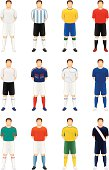 Twelve different World Cup soccer players.