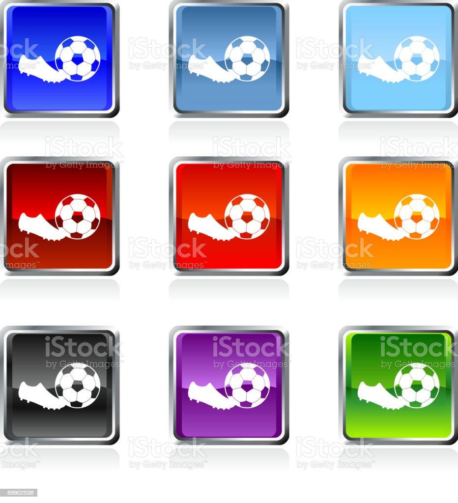 Fußball lizenzfreie Vektorgrafik in neun Farben Lizenzfreies fußball lizenzfreie vektorgrafik in neun farben stock vektor art und mehr bilder von blau