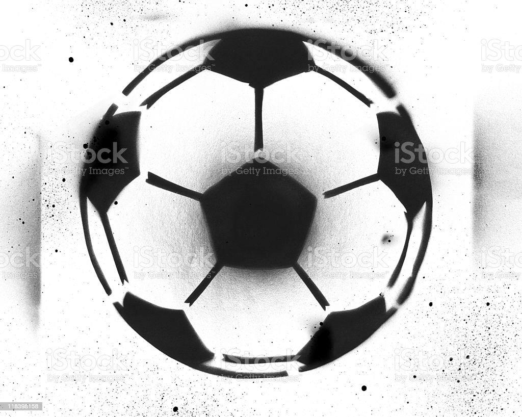 Soccer Stencil Spray Painting vector art illustration