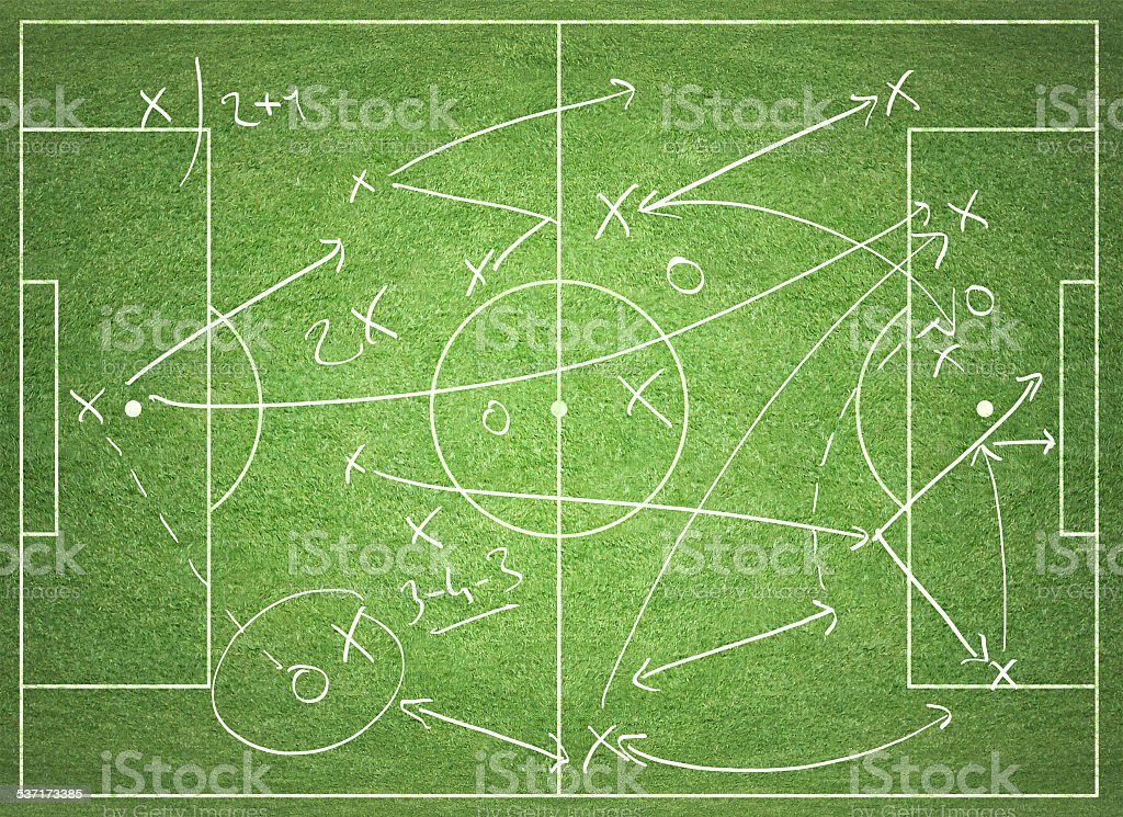Soccer tactics vector art illustration