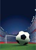 Soccerball in Stadium