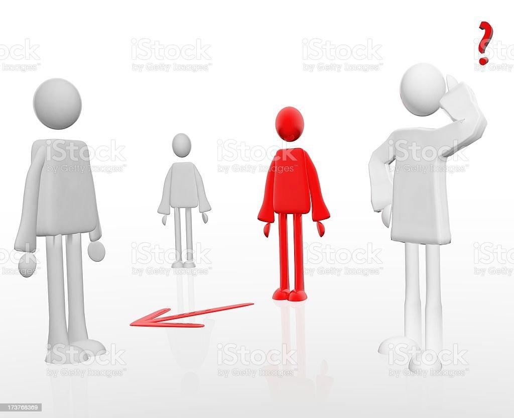 social interaction vector art illustration