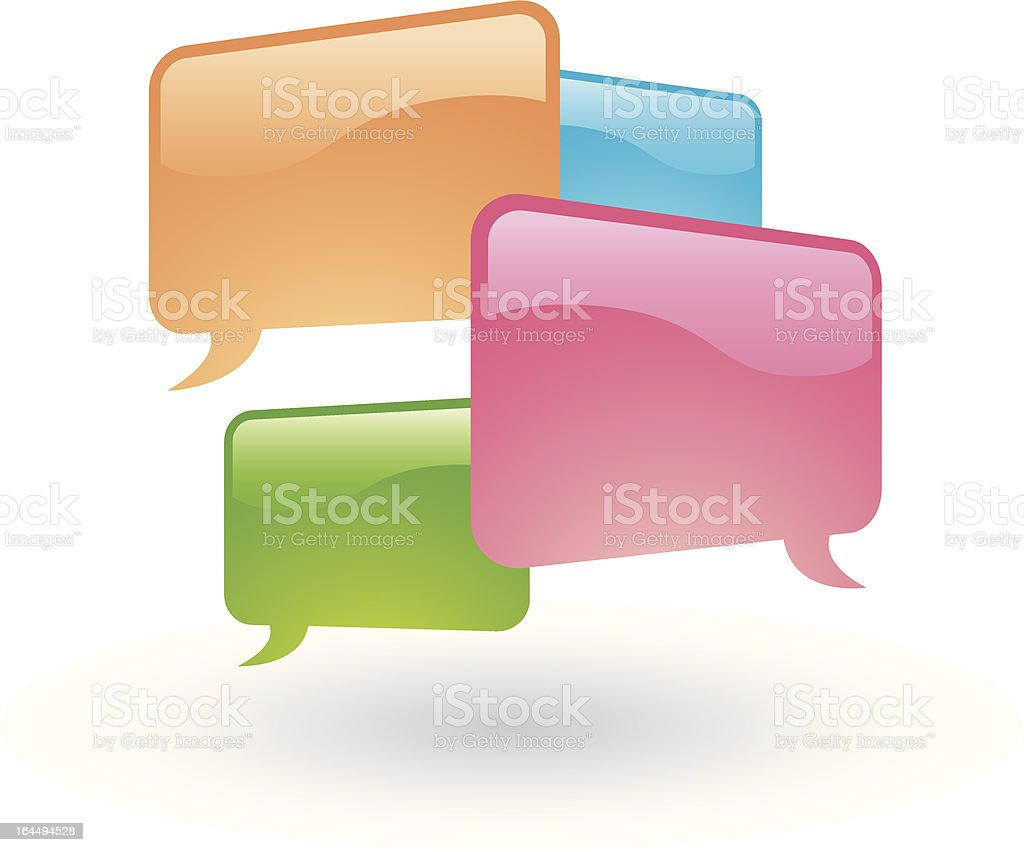 Social networking media chat message Vector royalty-free stock vector art