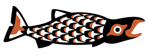 sockeye salmon.eps vector art illustration
