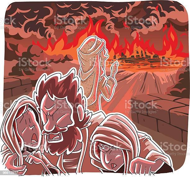 Sodom Und Gomorrah Zerstört Stock Vektor Art und mehr Bilder von Anfang