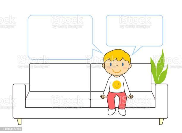 Sofa Boys Balloon Illustration Clip Art - Arte vetorial de stock e mais imagens de Adulto