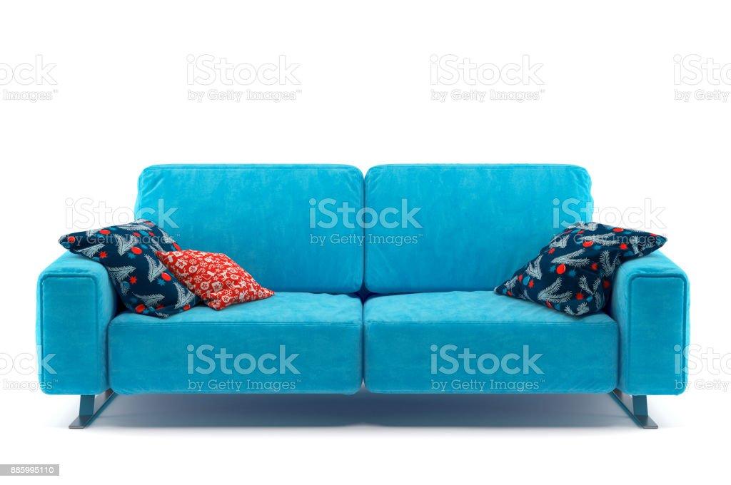 Sofa Isolated on White Background vector art illustration
