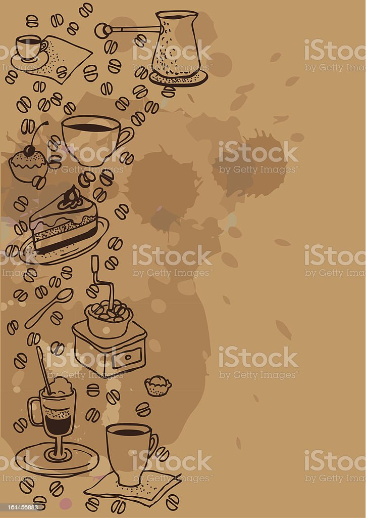 Сoffee background royalty-free stock vector art