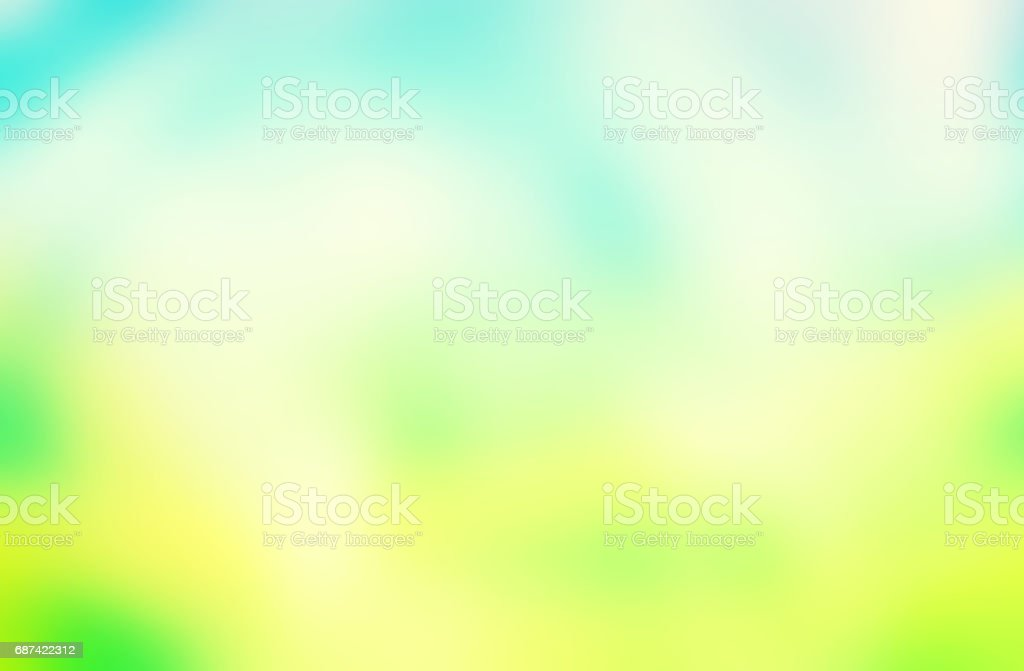 Yumuşak Mavi Ve Yeşil Arka Plan Stok Vektör Sanatı Akmaknin Daha