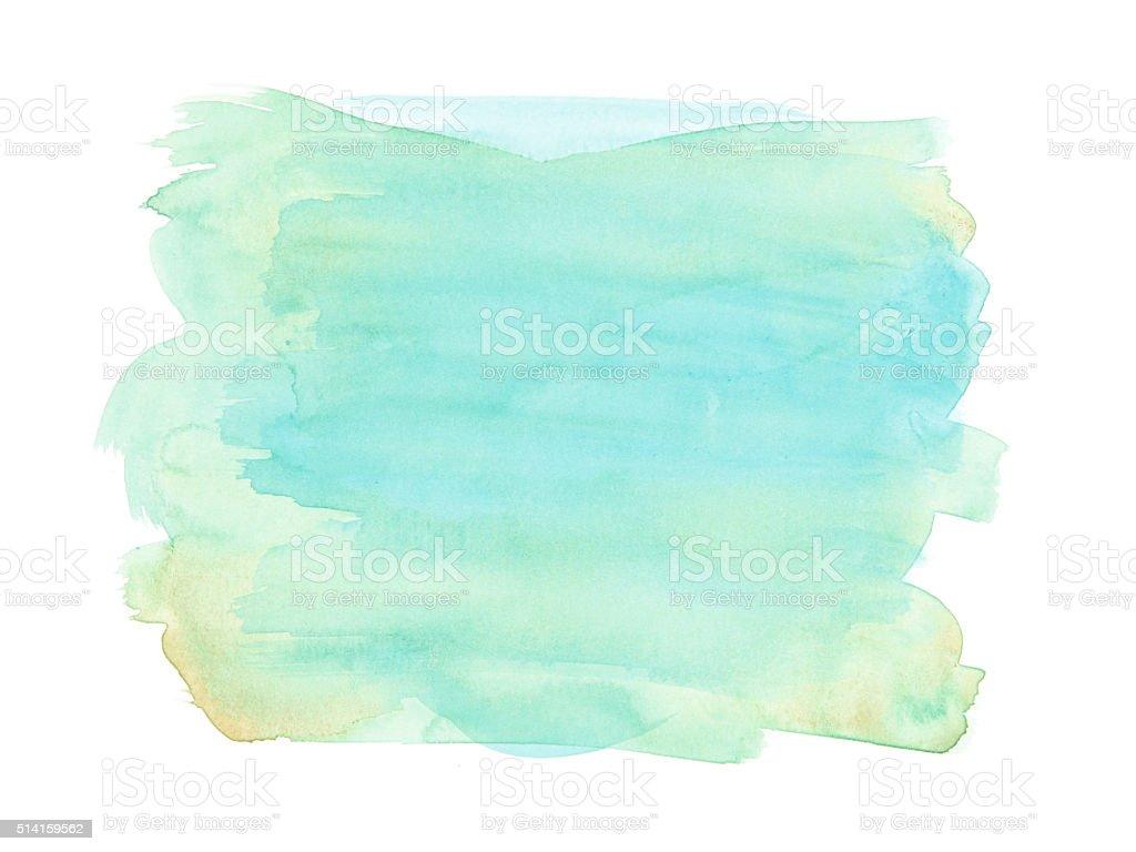 Morbido Tessuto Ad Acquerello Blu E Verde Sfondo Bianco Immagini