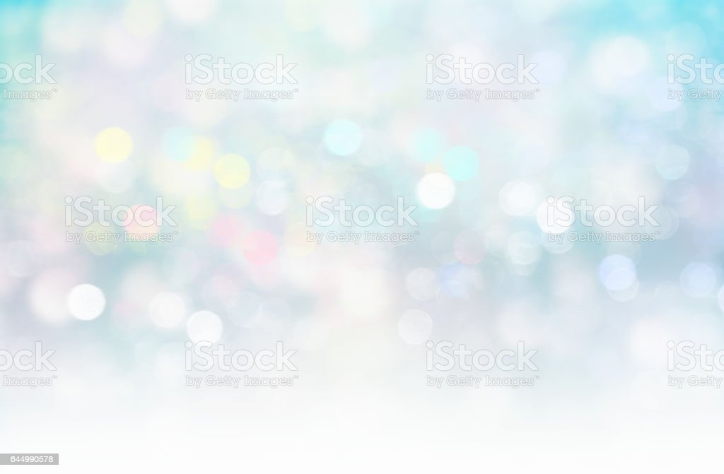 Soft blurred lights glitter blue xmas fairy background. - illustrazione arte vettoriale