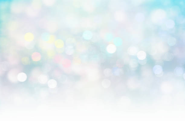 Soft blurred lights glitter blue xmas fairy background. vector art illustration