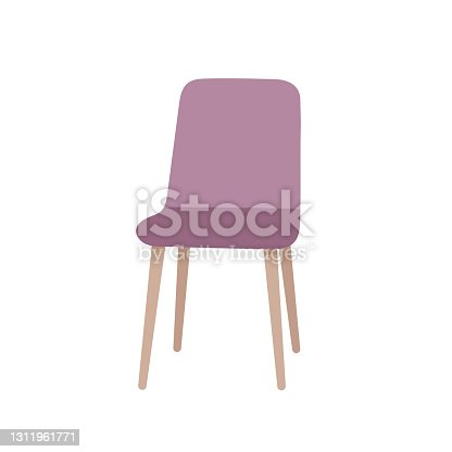istock Soft comfortable modern purple armchair or chair 1311961771