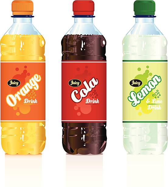 ilustraciones, imágenes clip art, dibujos animados e iconos de stock de una bebida sin alcohol frascos - bebida gaseosa