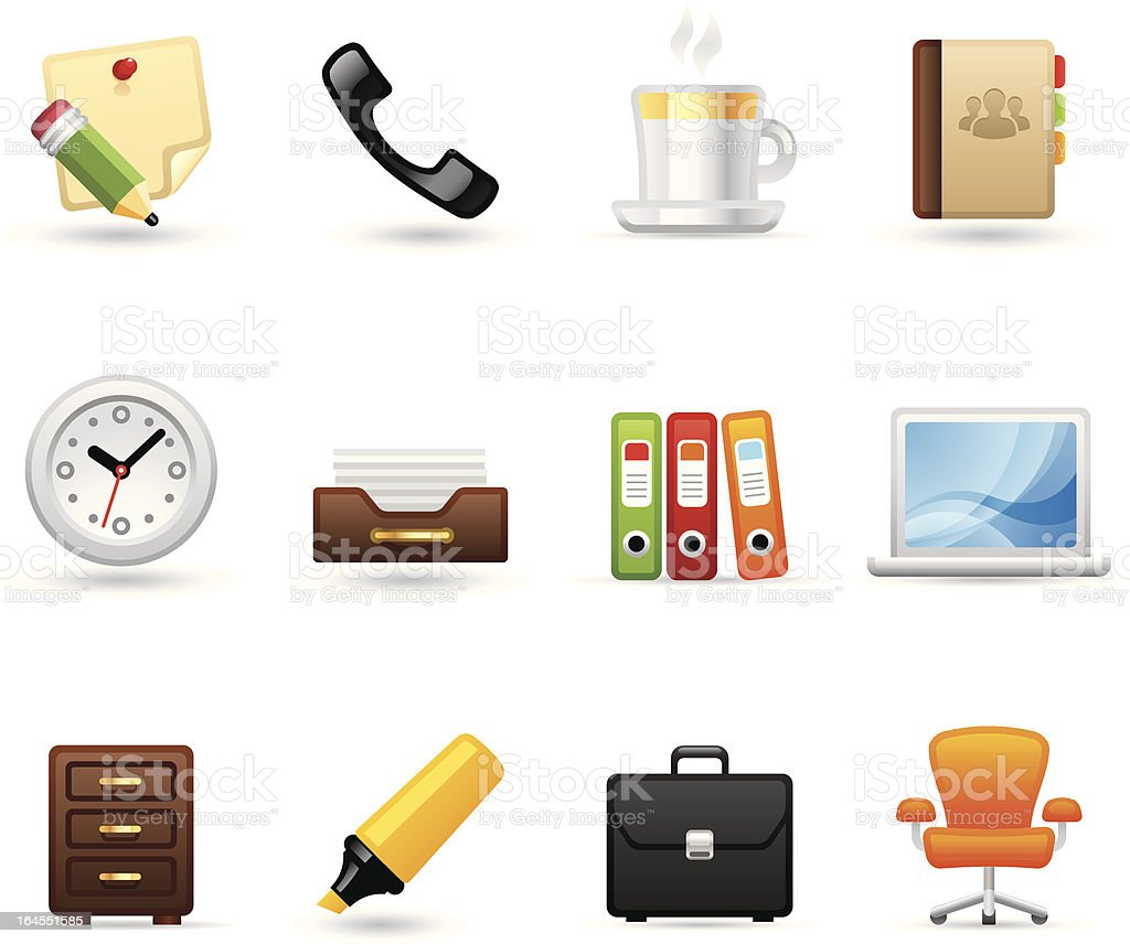 Softico Icons - Office royalty-free stock vector art