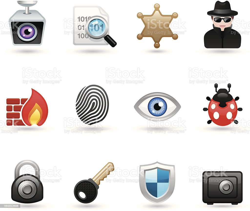 Softico Icons - Security royalty-free stock vector art